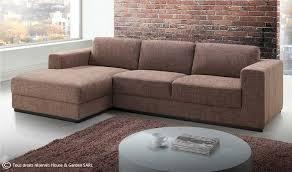 canapé d angle en tissu marron design angle à gauche road