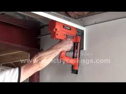 Drop Ceiling Installation by How To Install A Suspended Ceiling Wall Angle Installation Youtube