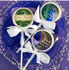 peacock wedding favors peacock wedding cherry candy lollipop favors ba birthday peacock