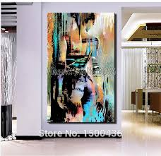 5 piece canvas wall art hand painted palette knife oil handpainted nude girl oil painting on canvas modern abstract
