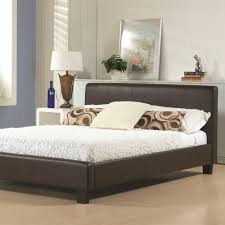 hamburg faux leather bed frame
