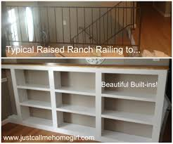 not so ordinary raised ranch stair railing walls and ranch