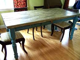 Distressed Dining Room Table Distressed Table And Chairs White Husky Farmhouse Table Projects