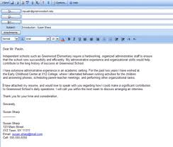 cover letter in an email 16 template how to write a sample