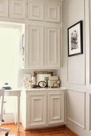 Kitchen Cabinet White Paint Colors Benjamin Moore Snowfall White Oc 118 Kitchen Cabinet Painted In