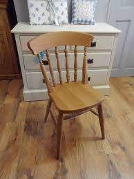 beech spindle back farmhouse kitchen chairs