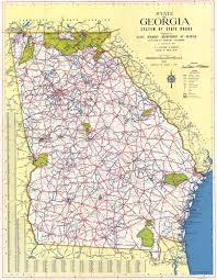 Highway Map Usa by Maps 1952 Georgia Map Georgiainfo