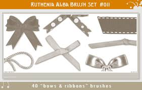 bows and ribbons brushset 11 bows n ribbons by ruthenia alba on deviantart