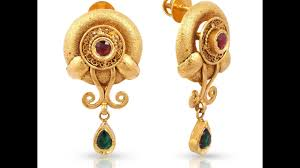 gold ear ring images light weight earrings collection gold earring designs