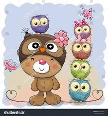 cute cartoon teddy bear owl hat stock vector 692308546 shutterstock
