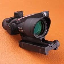 amazon acog black friday us 89 00 trijicon acog 4x32 fiber source red illuminated scope