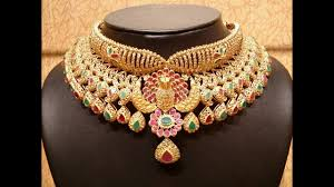indian chokers necklace images Precious designer gold choker collection latest south indian jpg