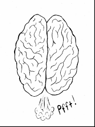 Extraordinary Coloring Pages Of The Brain With Brain Coloring Page Brain Coloring Page