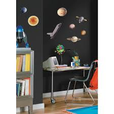 outer space travel sun planets wall decals stickers eonshoppee