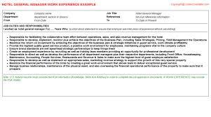 Restaurant General Manager Job Description Resume by Kfc Restaurant General Manager Cv Work Experience Samples
