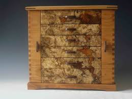 jewelry box 50 handmade standing jewelry box made of cherry wood and burl with