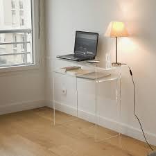 petit meuble de bureau des meubles transparents pour petits espaces joli place