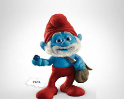 smurfs papa put face funny picture