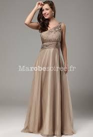 robe pas cher pour mariage robe de bal annabelle bretelle asymétrique couleur avec volants