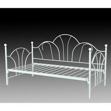 greenhome123 twin size metal daybed in black or white with slats