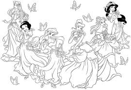 coloring pages girls princess coloring