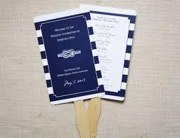 nautical wedding programs nautical wedding nautical wedding fan programs 2054597 weddbook
