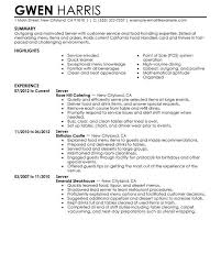 Waiters Resume Sample by Waitress Resume Sample Restaurant Server Resume Example Fine