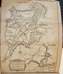 1775 Map Of Boston by Thomas Paine U0027s Day Job While Writing Common Sense Editor Of The