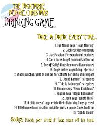 the nightmare before christmas u0027 drinking game