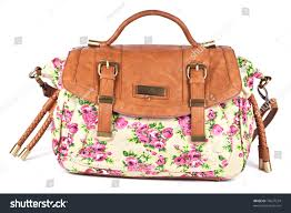 Light Pink Leather Purse Light Brown Womens Leather Purse Floral Stock Photo 76637524
