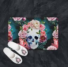Sugar Skull Bathroom Shower Curtains Bath Mats U0026 Towels Ink And Rags