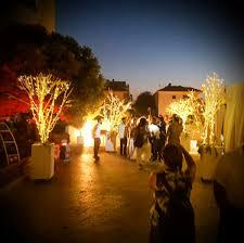 Fairy Light Tree by White Fairy Light Tree