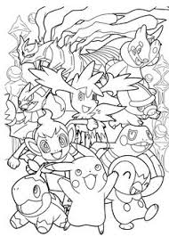 pokemon anime coloring pages kids printable free