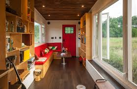 Four Lights Tiny House Eco Friendly Tiny House Offers Reclaimed Style And Drawbridge Deck