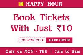 10am 11am ticket new happy hour get movie ticket just for rs