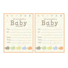 color baby shower blank invitations