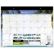 desk pad calendar 2018 amazon com at a glance monthly desk pad calendar january 2018