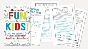 printable worksheets for vacation learning
