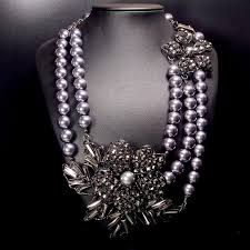big crystal necklace images Pearl necklace exaggerated big crystal five petal flower necklace jpg