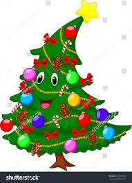 christmas tree cartoon character stock vector 163898294 shutterstock