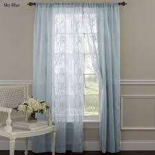 Sheer Panel Curtains Frosting Embroidered Sheer Curtain Panels