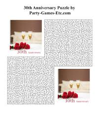 30th anniversary party games free printable games and activities