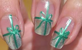 christmas nails present nail tutorial youtube