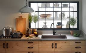 black kitchen faucets kitchen with wooden cabinets and black faucet an