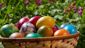 beautiful easter baskets easter basket beautiful easter eggs in a basket turning around