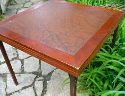 Folding Wood Card Table Card Table Ferguson Folding Table Vintage Wood Table Vintage Card