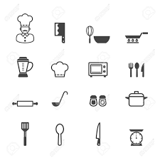 kitchen icon kitchen icons mono vector symbols royalty free cliparts vectors
