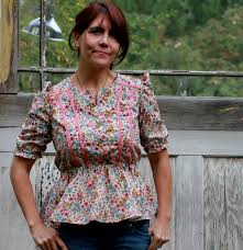granny chic granny chic blouse made by justine from sew country chick flickr