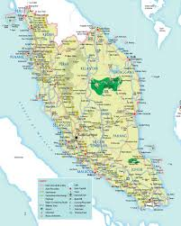 Highly Detailed River Map Of by Malaysia Maps Malaysia Travel Guide