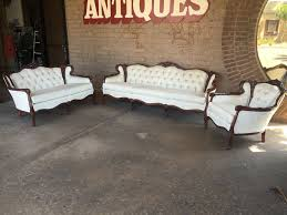 Victorian Leather Sofa Living Room Parlor 4 Piece Victorian Sofa Chair Coffee Table